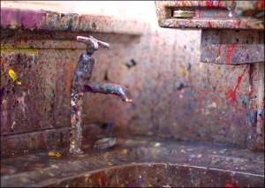 Jackson Pollock sink