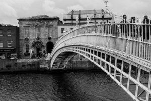 Ha'Penny Bridge over the River Liffey.